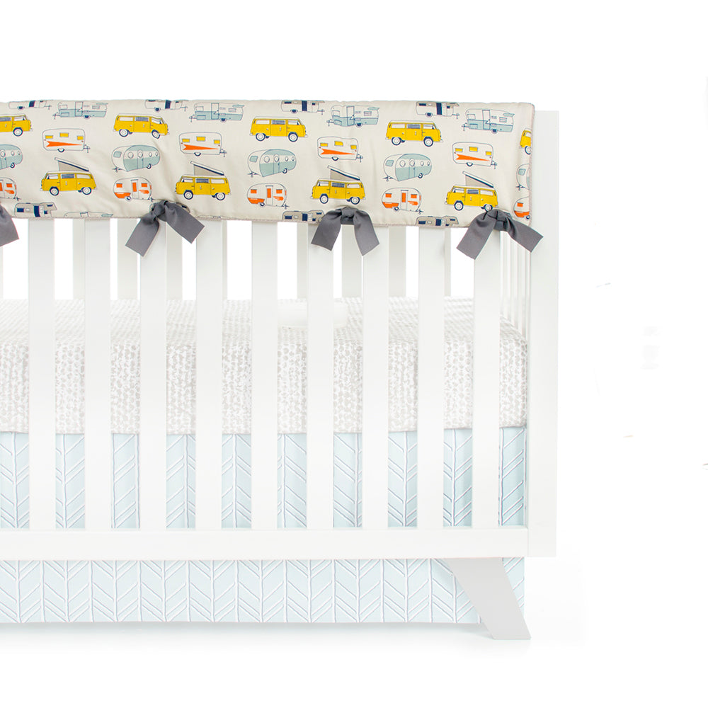 Happy Camper Crib Rail Protector - Shop Baby Slings & wraps, Baby Bedding & Home Decor !