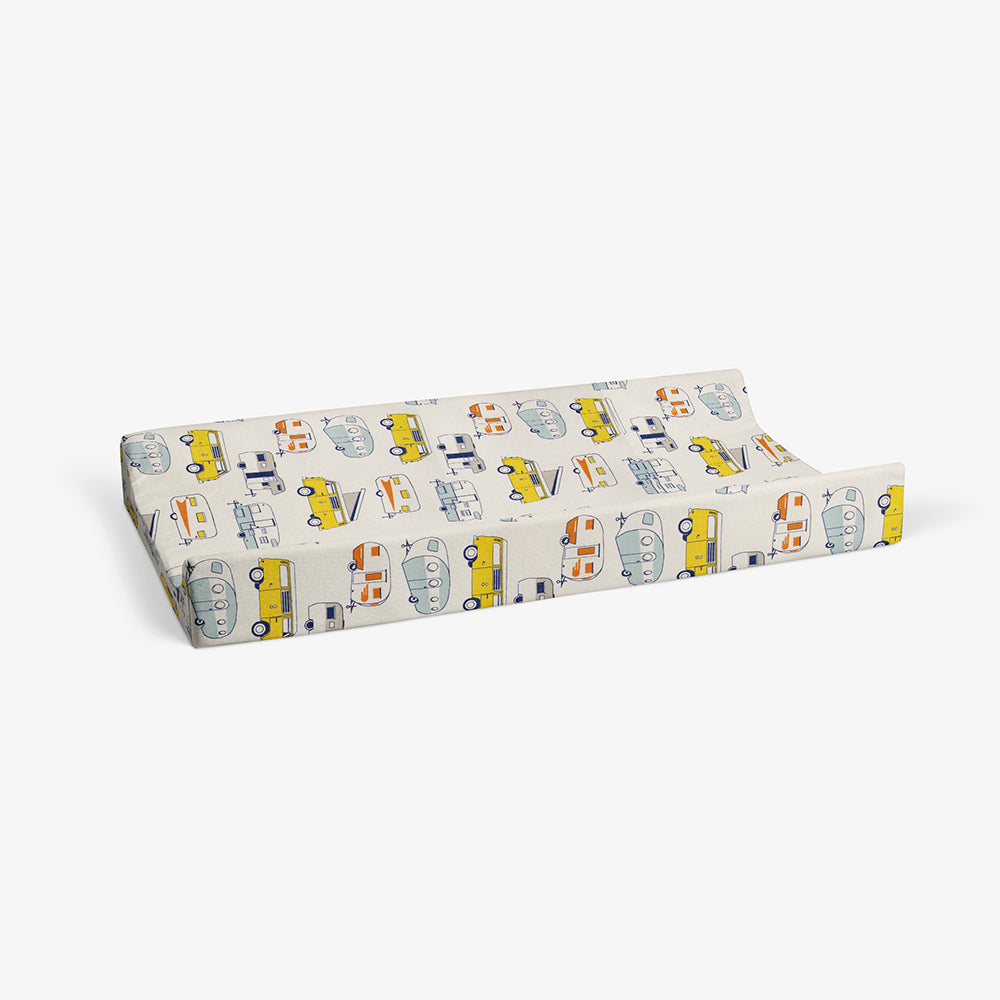 Happy Camper Changing Pad Cover (RV print) - Shop Baby Slings & wraps, Baby Bedding & Home Decor !