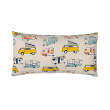 Load image into Gallery viewer, Happy Camper Pillow- Rectangular - Shop Baby Slings & wraps, Baby Bedding & Home Decor !