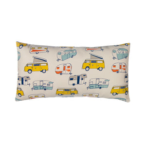 Happy Camper Pillow- Rectangular - Shop Baby Slings & wraps, Baby Bedding & Home Decor !