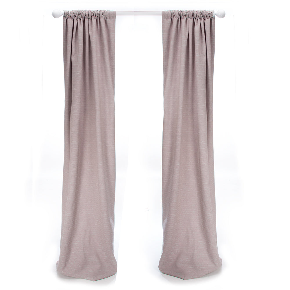 Happy Camper Drapery Panels  (Taupe) (Approximately 90x40