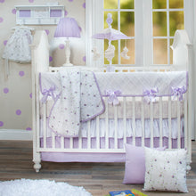Load image into Gallery viewer, Sweet Pea White Lamp W Purple Gingham Shade - Shop Baby Slings & wraps, Baby Bedding & Home Decor !