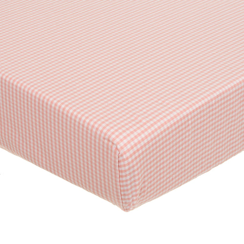 Cottage Rose Fitted Sheet (Pink gingham) - Shop Baby Slings & wraps, Baby Bedding & Home Decor !