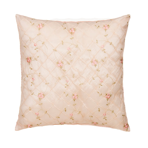 Cottage Rose Pillow - Emb Ovrly face/Pink gingham back - Shop Baby Slings & wraps, Baby Bedding & Home Decor !