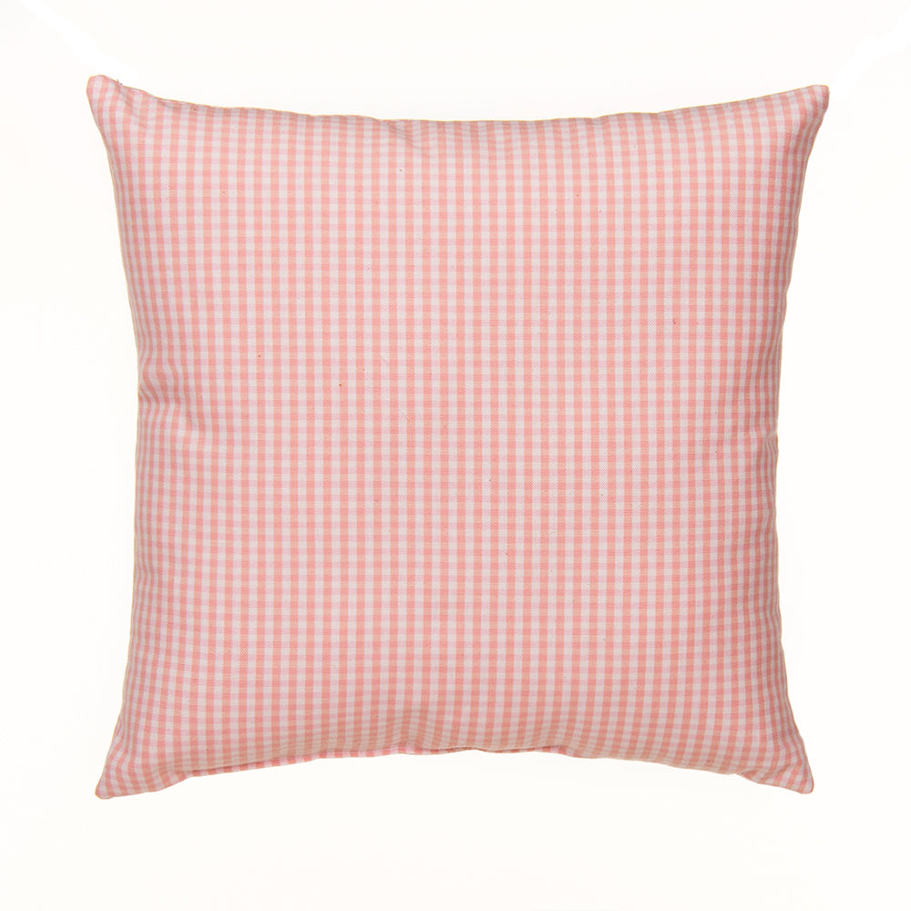 Cottage Rose Pillow- Pink gingham - Shop Baby Slings & wraps, Baby Bedding & Home Decor !