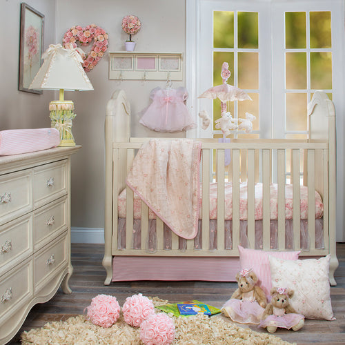 COTTAGE ROSE CRIB SKIRT 16