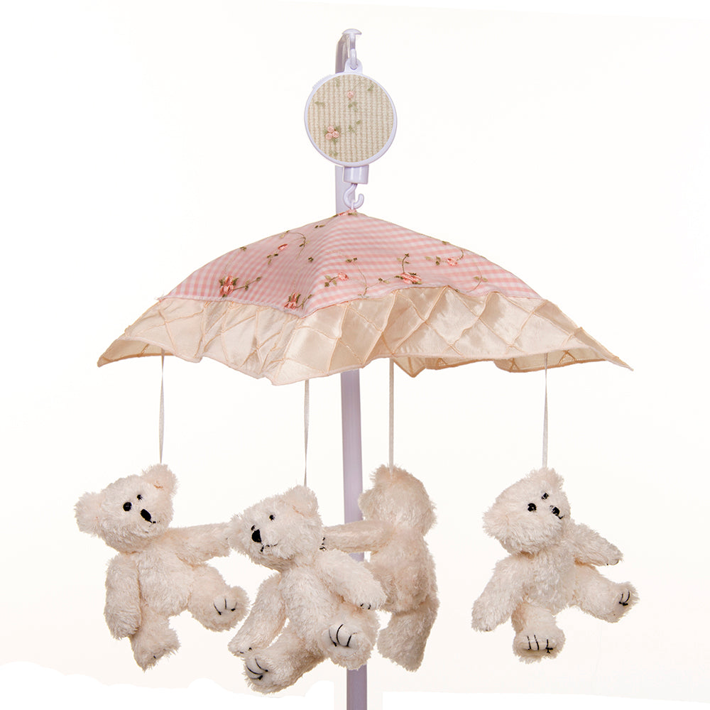 Cottage Rose Musical Mobile (Plays Brahms' Lullaby) - Shop Baby Slings & wraps, Baby Bedding & Home Decor !