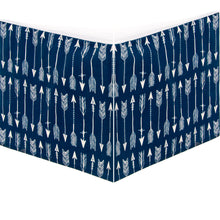 Load image into Gallery viewer, Aspen Blue Arrow Crib Skirt