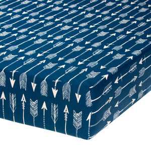 Aspen Blue Arrow Fitted Sheet
