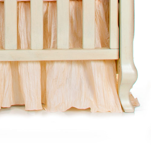 Charlotte Crib Skirt (Ivory Crinkle) - Shop Baby Slings & wraps, Baby Bedding & Home Decor !