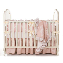 Load image into Gallery viewer, Angelica 4Pc Set (Includes quilt, bumper,  sheet, crib skirt) - Shop Baby Slings & wraps, Baby Bedding & Home Decor !