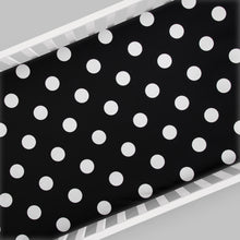 Load image into Gallery viewer, Apollo Fitted Sheet (Black and White Dot) - Shop Baby Slings & wraps, Baby Bedding & Home Decor !