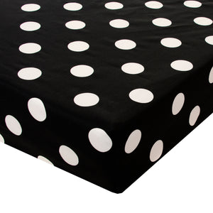 Apollo Fitted Sheet (Black and White Dot) - Shop Baby Slings & wraps, Baby Bedding & Home Decor !