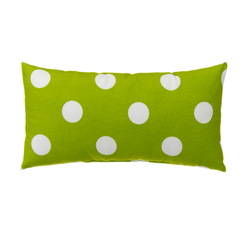 Apollo Pillow- Rectangle Green Dot 11