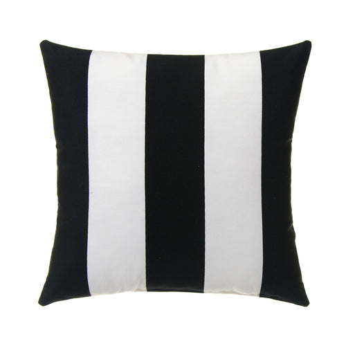 Apollo Pillow- Black and White Stripe 14