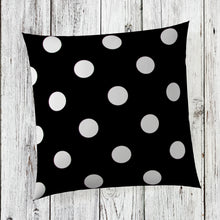 "Load image into Gallery viewer, Apollo Pillow- Black Dot 14""x14"" - Shop Baby Slings & wraps, Baby Bedding & Home Decor !"
