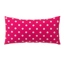 "Load image into Gallery viewer, Apollo Pillow Rectangular Pink Micro Dot 12""x22"" - Shop Baby Slings & wraps, Baby Bedding & Home Decor !"