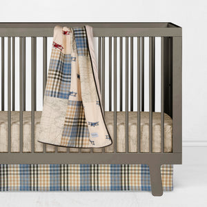 AIR TRAFFIC 2PC  SET (INCLUDES SHEET, CRIB SKIRT) - Glenna Jean