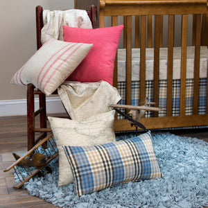 AIR TRAFFIC PILLOW-PLAID LUMBAR - Shop Baby Slings & wraps, Baby Bedding & Home Decor !