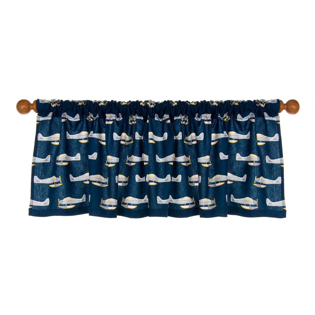 "First Flight Window Valance (Airplane print) (Approximately 54""x23"") - Shop Baby Slings & wraps, Baby Bedding & Home Decor !"