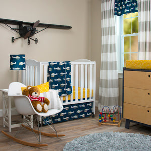 "First Flight Drapery Panels (Grey) (Approximately 90x40"")(Lined) - Shop Baby Slings & wraps, Baby Bedding & Home Decor !"