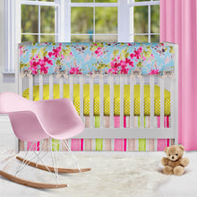 Load image into Gallery viewer, Cherry Blossom  Crib Rail Protector - Shop Baby Slings & wraps, Baby Bedding & Home Decor !