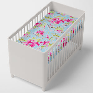 Cherry Blossom Fitted Sheet (Floral ) - Shop Baby Slings & wraps, Baby Bedding & Home Decor !