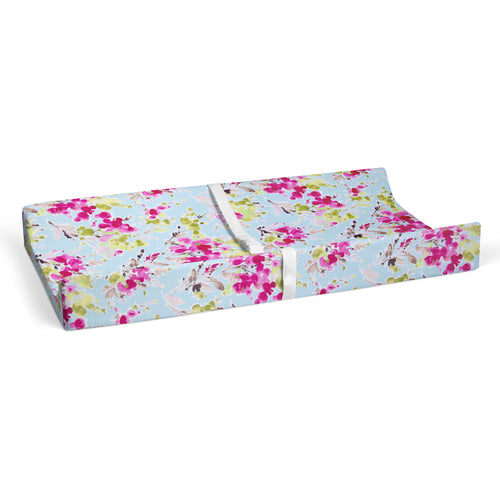 Cherry Blossom Changing Pad Cover (Floral print) - Shop Baby Slings & wraps, Baby Bedding & Home Decor !