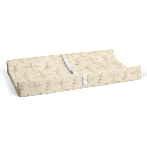 Airplanes - Natural Changing Pad Cover - Shop Baby Slings & wraps, Baby Bedding & Home Decor !