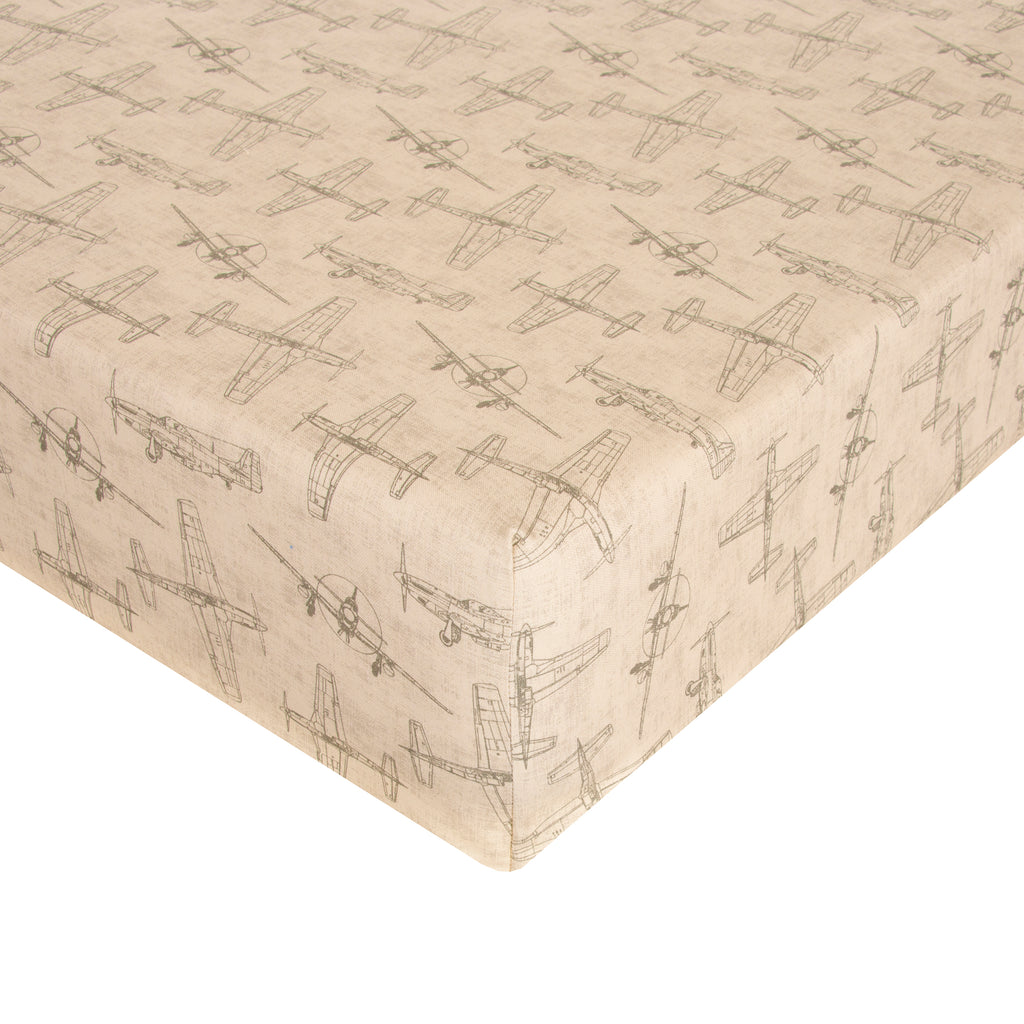 Glenna Jean Mini Crib Fitted Sheet Airplanes - Shop Baby Slings & wraps, Baby Bedding & Home Decor !