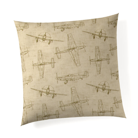 Airplanes - Natural Pillow - Shop Baby Slings & wraps, Baby Bedding & Home Decor !