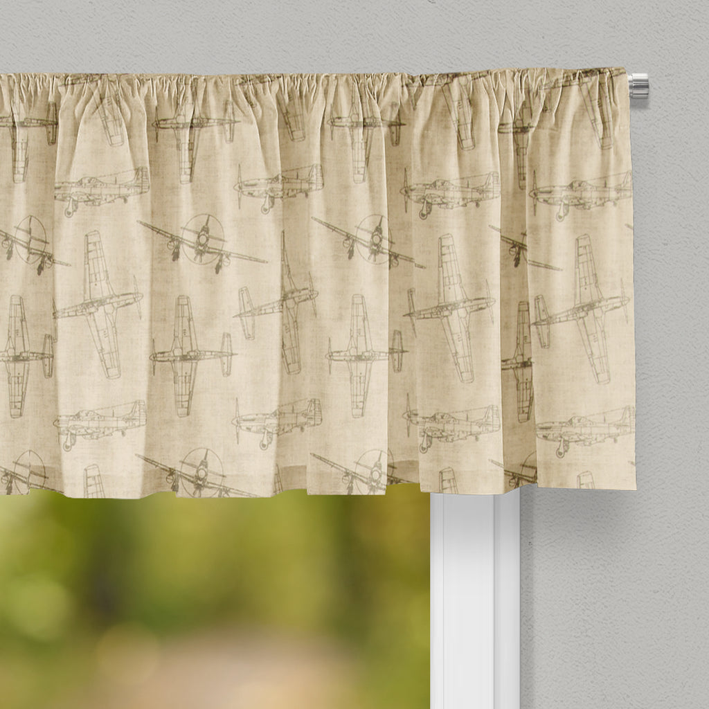 Airplanes - Natural Valance - Shop Baby Slings & wraps, Baby Bedding & Home Decor !
