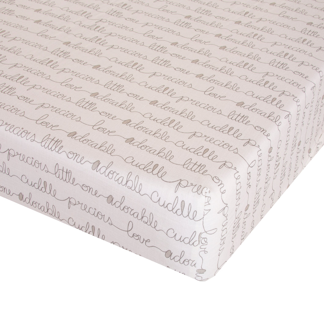 Glenna Jean Mini Crib Fitted Sheet All My Love - Shop Baby Slings & wraps, Baby Bedding & Home Decor !