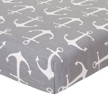 Load image into Gallery viewer, Anchors Away Fitted Sheet - Shop Baby Slings & wraps, Baby Bedding & Home Decor !