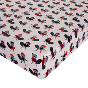 Glenna Jean Mini Crib Fitted Sheet Beaver Buddies - Shop Baby Slings & wraps, Baby Bedding & Home Decor !