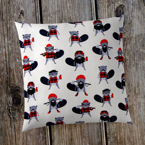 "Beaver Buddies 18"" Pillow - Shop Baby Slings & wraps, Baby Bedding & Home Decor !"