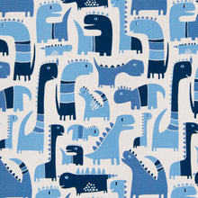 Load image into Gallery viewer, Dino Blue Fitted Sheet - Shop Baby Slings & wraps, Baby Bedding & Home Decor !