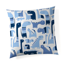 Load image into Gallery viewer, Dino Blue Pillow - Shop Baby Slings & wraps, Baby Bedding & Home Decor !