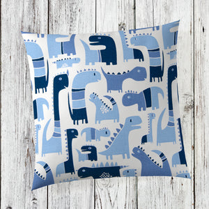 Dino Blue Pillow - Shop Baby Slings & wraps, Baby Bedding & Home Decor !