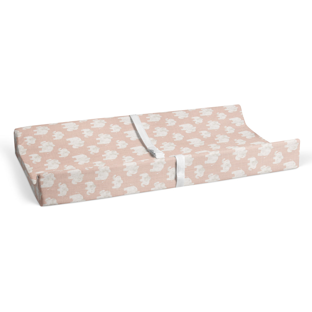 Elephant Herd - Blush Changing Pad Cover - Shop Baby Slings & wraps, Baby Bedding & Home Decor !