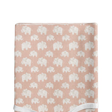 Load image into Gallery viewer, Elephant Herd - Blush Changing Pad Cover - Shop Baby Slings & wraps, Baby Bedding & Home Decor !