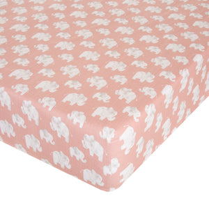 Glenna Jean Mini Crib Fitted Sheet Elephant Herd Blush - Shop Baby Slings & wraps, Baby Bedding & Home Decor !