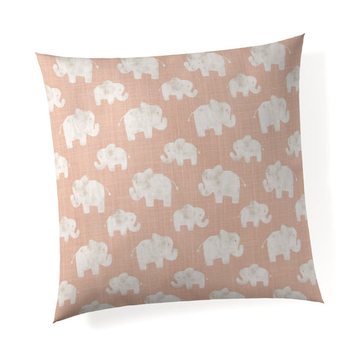 Elephant Herd - Blush Pillow - Shop Baby Slings & wraps, Baby Bedding & Home Decor !