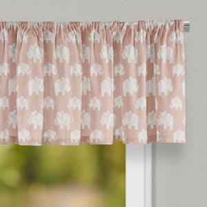 Elephant Herd - Blush Valance - Shop Baby Slings & wraps, Baby Bedding & Home Decor !