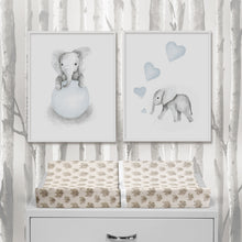 Load image into Gallery viewer, Elephant Herd - Natural Changing Pad Cover - Shop Baby Slings & wraps, Baby Bedding & Home Decor !