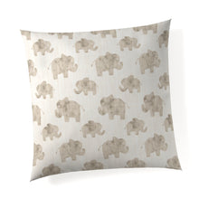 Load image into Gallery viewer, Elephant Herd - Natural Pillow - Shop Baby Slings & wraps, Baby Bedding & Home Decor !