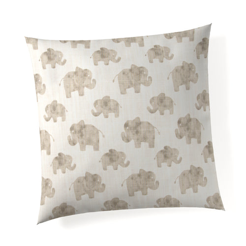 Elephant Herd - Natural Pillow - Shop Baby Slings & wraps, Baby Bedding & Home Decor !