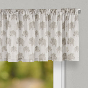 Elephant Herd - Natural Valance - Shop Baby Slings & wraps, Baby Bedding & Home Decor !