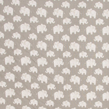 Load image into Gallery viewer, Elephant Herd - Stone Fitted Sheet - Shop Baby Slings & wraps, Baby Bedding & Home Decor !