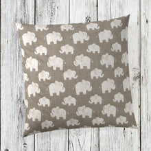 Load image into Gallery viewer, Elephant Herd - Stone Pillow - Shop Baby Slings & wraps, Baby Bedding & Home Decor !